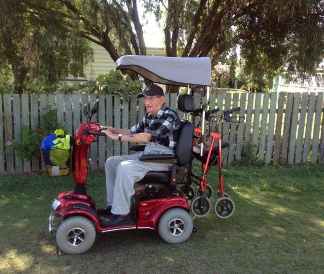 Red Monarch Wrangler Mobility Scooter (Richard Rockett)