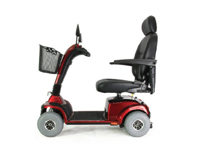 Red Monarch Zener Mobility Scooter Side View