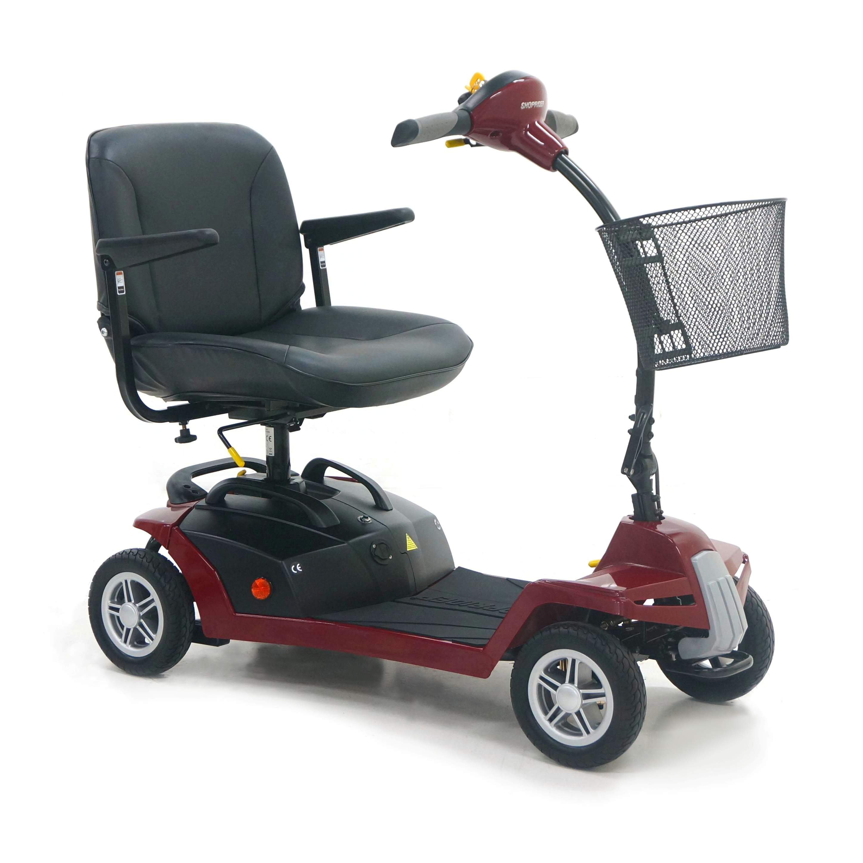 Shoprider QT8 Mobility Scooter, The Little Beauty   4 Wheel, Red